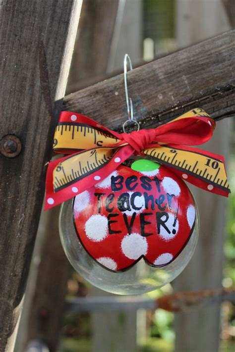 number  teacher ornament  aglasswithsass  etsy