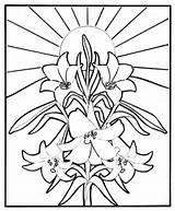Easter Coloring Religious Christian Colouring Egg Resurrection Fete Jesus Disegni Giglio Bambini Publi24 Roll History Joc X5 Baieti Cu Chat sketch template