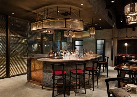 rhoda restaurant interior pays homage  chefs grilling