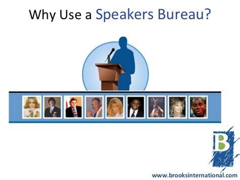 Why Use A Speakers Bureau?