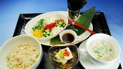 Japanese Soup Rice Cuisine Dessert Background