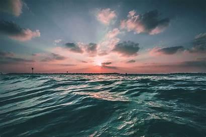 Ocean Sunset Pollution Plastic Economy Fight Sea