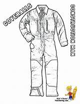 Coloring Construction Pages Boys Coveralls Overalls Tough Yescoloring Equipment sketch template