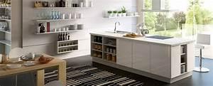 cuisine equipee blanc laque befrdesignco With carrelage adhesif salle de bain avec enseigne lumineuse led prix
