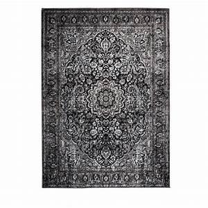 tapis motifs orientaux noir chi With tapis oriental avec canape ghost 12