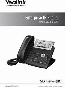 Yealink T23g Ip Phone User Manual Part One