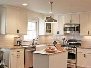 shaker kitchen cabinets pictures options tips ideas With kitchen colors with white cabinets with joshua 1 9 wall art