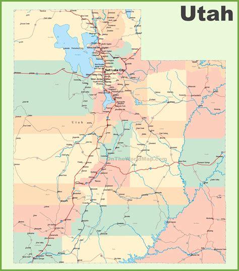 Scow Lake Utah by Map Of Utah 100 More Photos