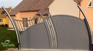 Portail Coulissant Sur Rail : portail alu atlantide coulissant sur rail ~ Edinachiropracticcenter.com Idées de Décoration