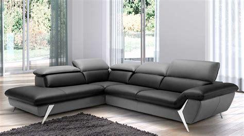 canapé bicolore grand canapé d 39 angle méridienne 6 places cuir haut de gamme