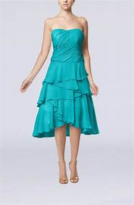 teal romantic a line sleeveless backless chiffon ruching With teal dresses for wedding guest