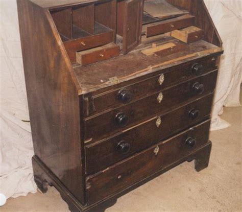 bureau repairs georgian mahogany bureau repair and restoration