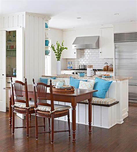 Beach Cottage Kitchen Ideas - decoración y de comedor y sala juntos en espacio pequeño curso diseno casa