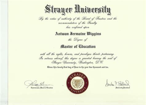 strayer university master  education degree