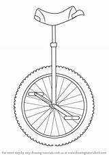 Draw Template Unicycle Drawing Step Coloring sketch template
