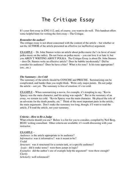 critical review essay  thatsnotus