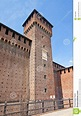 Tower Of Bona Of Savoy In Sforza Castle (XV C.). Milan ...
