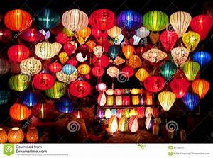 Traditional Asian Culorful Lanterns On Chinese Market ...