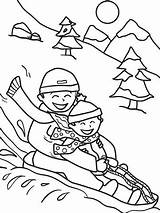 Coloring Sledding Winter Pages Printable Sheets Friends Snow Worksheet Christmas Sled Activities Printables Parents Sheet Kindergarten Potty Education Adult Colouring sketch template