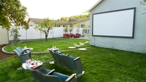 Backyard Home Theater by Backyard Makeover With Outdoor Theater Hgtv