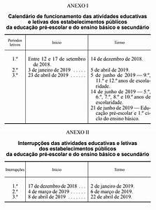 Calendário Escolar para 20182019 ComRegras