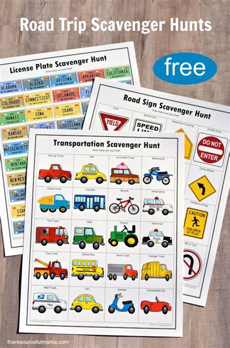 Road Trip Scavenger Hunts {free Printables} The