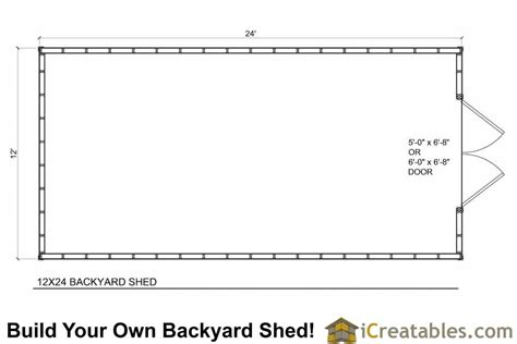 Shed Floor Plan by 12x24 Backyard Large Shed Plans Icreatables
