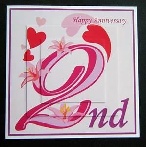 2 year wedding anniversary handmade anniversary cards for friend