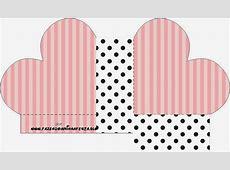 Rayas Rosa y Lunares Negros Cajas para Imprimir Gratis