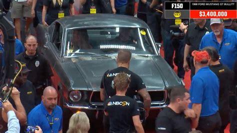 mustang bullitt  car sells  record   auction