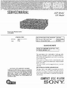Sony Cdp-h500 Service Manual