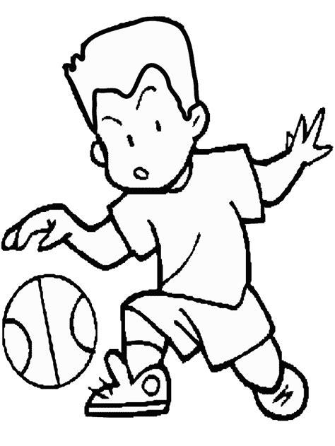 Kleurplaat Basketbal by Basketbal Kleurplaten Sport Kleurplaten 187 Animaatjes Nl