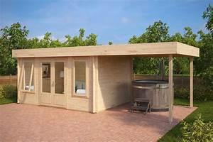 Gartenhaus 3 X 3 M : modernes holz gartenhaus mit terrasse jacob d 12m 44mm 3x4 hansagarten24 ~ Whattoseeinmadrid.com Haus und Dekorationen