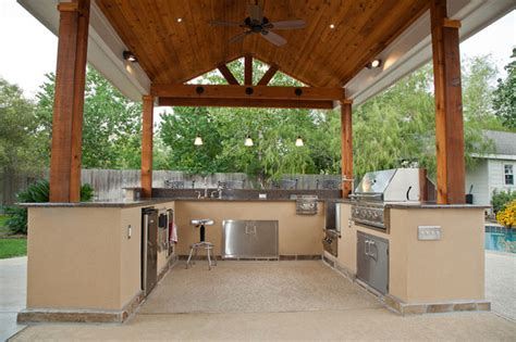 outdoor cabinets for patio outdoor kitchen and patio cover in katy tx traditional