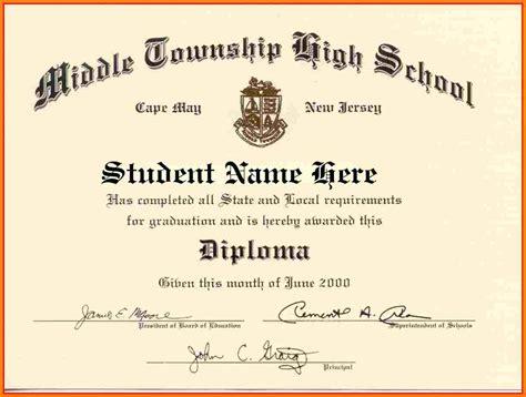 high school diploma template word