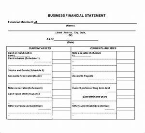 statement template 8 free word excel pdf documents With financial documents definition
