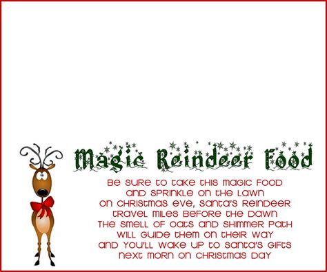 label cuisine reindeer food recipe and printable the creative