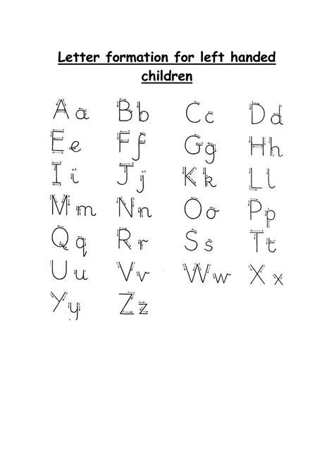 left handed letter formation letter formation kids