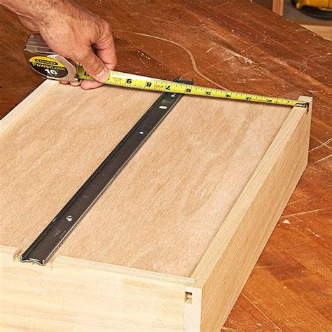 Dresser Drawer Slides Center Bottom Mount by How To Install Bottom Mount Drawer Slides