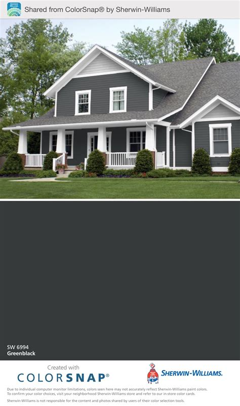 outside paint colors our outside color greenblack sherwin williams house