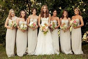 Champagne wedding gown..what color scheme and bridesmaids?