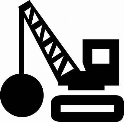 Demolition Icon Ball Tool Weight Transport Svg