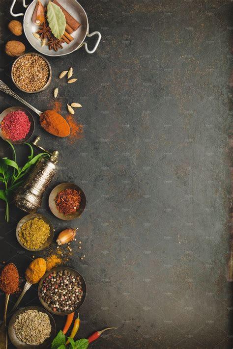 herbs  spices  dark background  natalia klenova