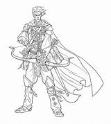 Bard Elf Drawing Nelson Jim Illustrations Character Paizo Bards Am sketch template