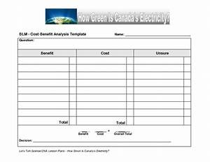 simple cost benefit analysis template bamboodownundercom With cost benefits analysis template