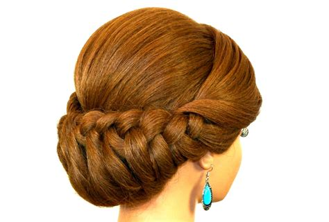 Braided Updo Hairstyle For Medium Long Hair.