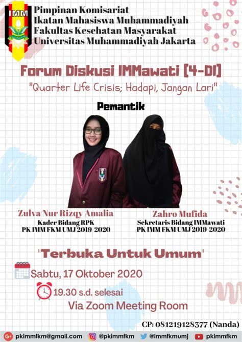 press release forum diskusi immawati   quarter life crisis hadapi jangan lari