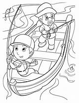 Fishing Coloring Manny Handy sketch template