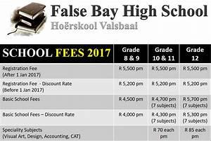 School Fees 2017 – False Bay High School