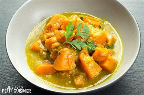 cuisiner de la courge recette de curry de courge au lait de coco